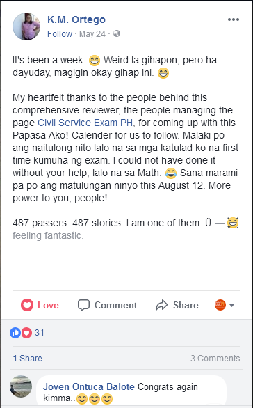 Civil Service Exam Reviewer Testimony