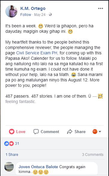 Civil Service Exam Reviewer Testimony