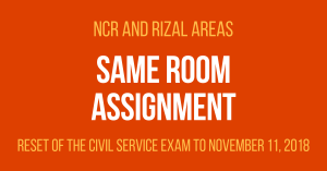 Same Room Assignment November 11